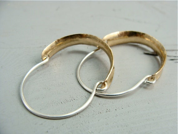 arch ... mixed metal hoops