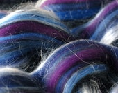 nocturne Tussah Silk/Merino Wool gigglejelly colourblend roving 3.6oz/100g