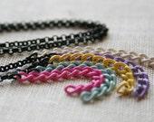 LAST ONE Colori Necklace - colorful black rainbow short minimal minimalist fun pop enamel chain