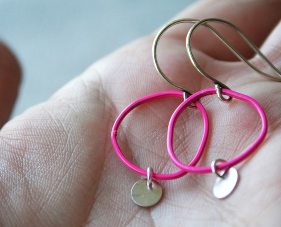 Topo Earrings 4 Small - Pink