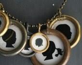 custom silhouette pendant necklace . medium size . single pendant