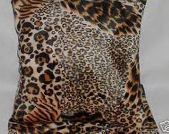 Cow Print Faux Fur Throw Blanket 60x72 New