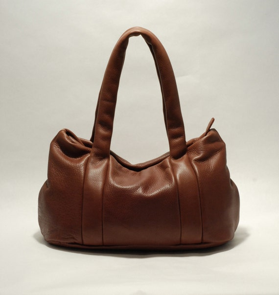 SALE - SALE - SALE  - Leather bag - chestnut brown - large leather tote bag - brown leather