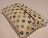 Green and Blue Dots Tissue Holder