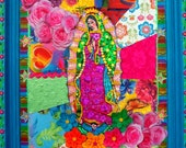 Virgin of Guadalupe Large Collage\/Assemblage Piece