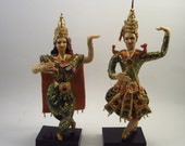 Vintage Indian Dolls - Bollywood Couple - Burmese Dancers - Wedding Bride and Groom