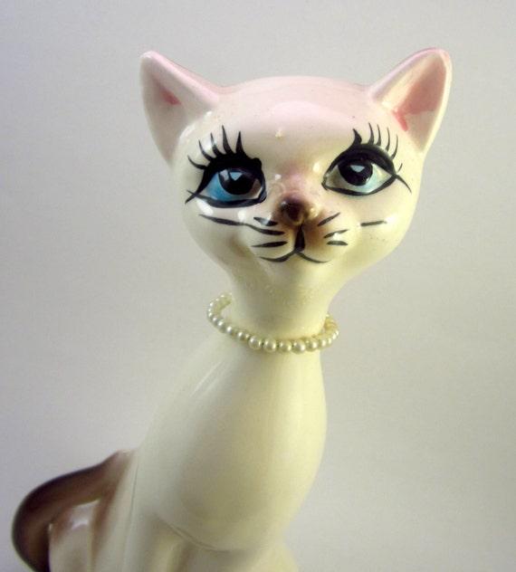 Vintage Siamese Cat - Mid Century Ceramic - Retro Kitty
