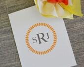 Orange Wreath Thank You Notes: On Sale