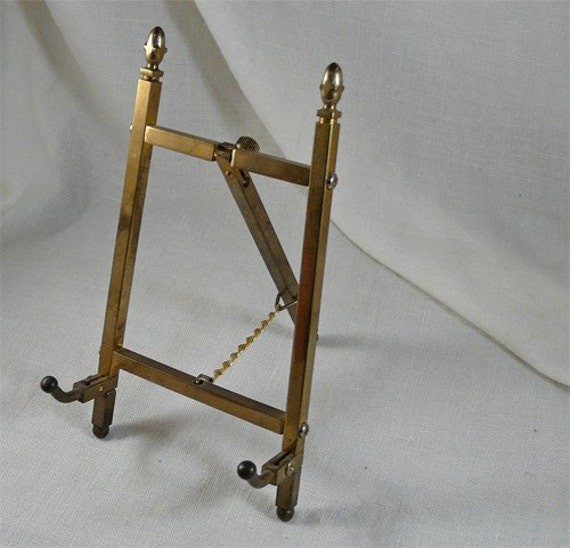 Charming Vintage Brass Easel Small Size For Petite Art