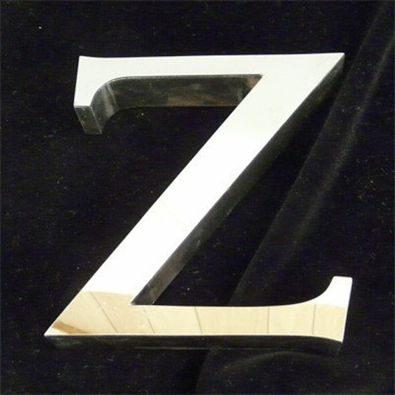 cool letter i cool vintage chrome sign letter z shiny and terrific 20960 | il 570xN.61876195