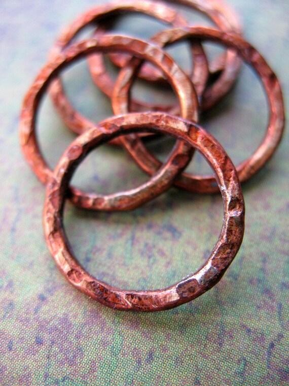Chestnut Brown - 16mm Patina Copper Links
