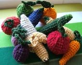 Wool Fruits and Veggies Play Set