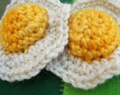 PDF file only of CROCHET PATTERN for  Fried Eggs