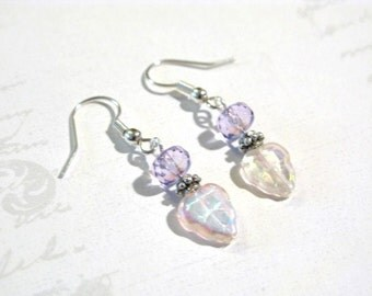 Fruity Grape Leaves Dangling Earrings