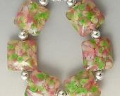 BFG Mottled Out Back Handmade Lampwork Pillow Beads SRA
