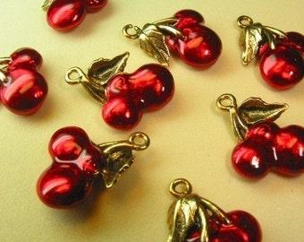 Cherry charm 2pc