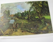 1970's Vintage Blank gift card - Flatford Mill by John Constable, 18th C English painting