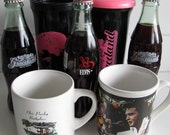 Elvis Presley Instant collection of mugs cups and Coke bottles - Graceland