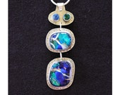 Sterling Silver and Dichroic Glass Pendant