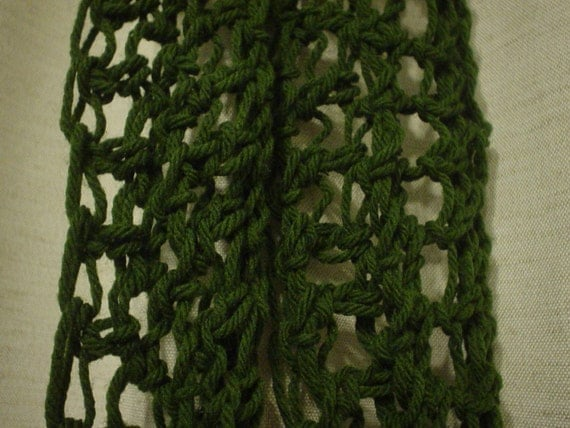 Crochet Stitches Loose : Loose stitch green crochet scarf by SweetyPrize on Etsy