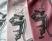 Meat Grinder Necktie. Pigs and Sausage Grinder men's necktie, pink silk tie. Chef gift, butcher gift, pork lover, bacon lover.