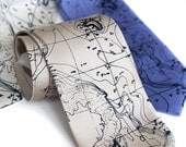"Topographic contour map necktie. Sea floor map illustration. ""Topographical Error"" men's tie. Silkscreened microfiber, navy blue print."