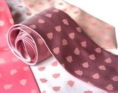 "Pigs Necktie. Tumbling pig polka dots men's silkscreen necktie. ""Porka Dot"". Pink pig spotted tie."