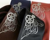 Victorian Gears, screenprinted microfiber necktie