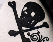 Skull and Bones screenprinted microfiber necktie