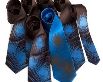 9 Wedding Ties. Groomsmen 20% group discount. Custom color matching vegan-safe neckties, printed silkscreen design