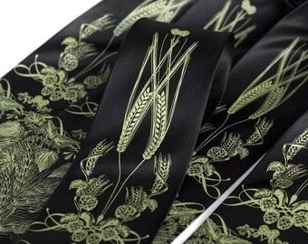 5 Groomsmen Neckties. 20% wedding group discount, custom color matching silkscreen ties. Vegan safe microfiber.