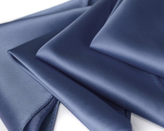 Plain pocket square. Solid color men's handkerchief. Perfect for weddings and groomsmen. Your choice of blue & more! No print.