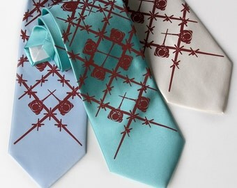 """Pilot Necktie. C-130 """"Wingman"""" silkscreen tie. Crimson red print. Your coice of tie color and width."""