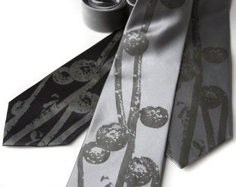Wedding neckties. 3 silk groomsmen men's ties, matching design - wedding group discount.