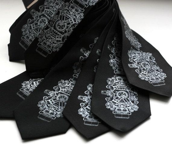 Wedding Tie Set. 7 groomsmen neckties, 20% wedding group discount, matching vegan-safe microfiber ties, same silkscreen design