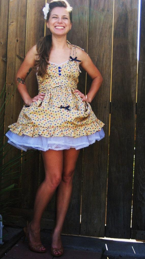 Beige Lolita Bustle Back Dress