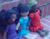 Affro Girl Doll Knitting Pattern