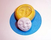 Tiny Face Eyes Closed Flexible Push Mold Mould For Resin Paper Clay Sculpey Fimo Polymer Premo Wax Chocolate  B309