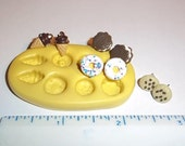 Ice Cream Cone Donut Cookie Flexible Mold Mould For Resin Paper Clay Sculpey Fimo Polymer Premo Wax Chocolate  E306