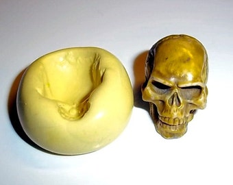 SKULL Mold Flexible Push Mould For Resin Paper Clay Sculpey Fimo Polymer Premo Wax Chocolate  (M200)
