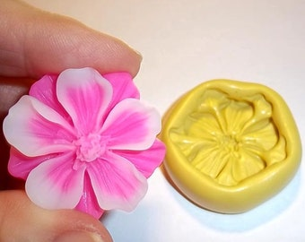 Flower Flexible Mold Mould For Resin Paper Clay Sculpey Fimo Polymer Premo Wax Chocolate Fondant  (F172)