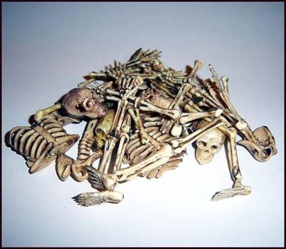 Skeleton Bones Pile Of Creepy Bones Rib Cage Hands