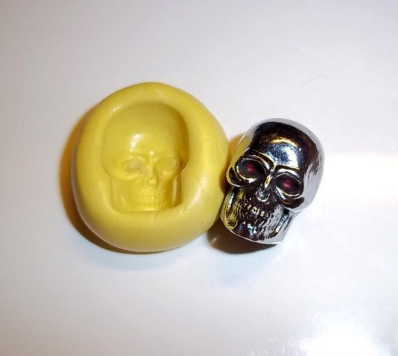 SKULL Flexible Push Mold Mould For  From Resin Paper Clay Sculpey Fimo Polymer Premo Wax Chocolate  (M223)