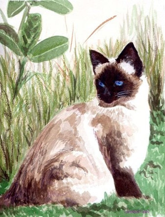 Garth, a watercolor painting.. Custom Pet Portraits
