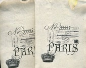 gift bags set of four muslin bags paris themed