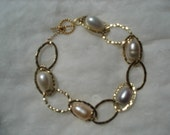 Pearl and Gold filled Bracelet