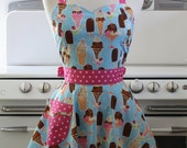 The BELLA Vintage Inspired Inspired Ice Cream Sundae and Popsicle Full Apron
