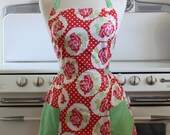 Retro Apron Red Vintage Rose