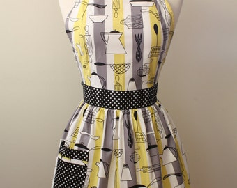 Apron Retro Style Atomic Kitchen CHLOE Full Apron