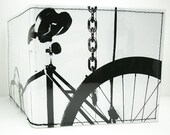 Black and White Fixie Bike Wallet